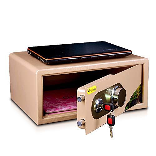 ZZHBXG Tresore Mechanische Password Safe, Haushalt Kleine Nacht Safe Box Office All Steel 2-Schicht-Versicherung Cabinet für Cash/File/Laptop, 4 Größen Sicherer Schrank (Size : 45x36x20cm)