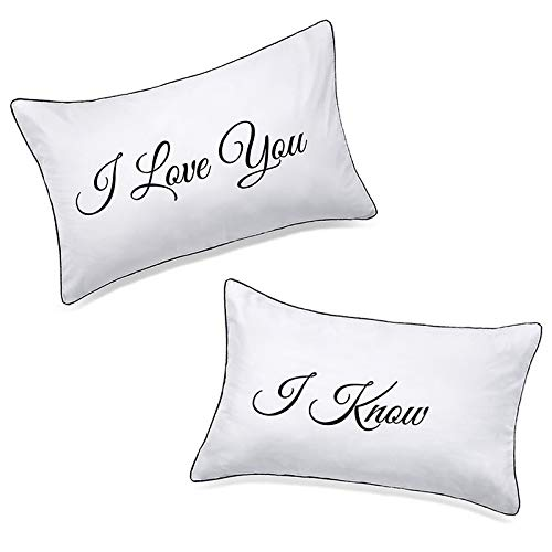 DasyFly Falling in Love Couples Pillowcases Wedding,...