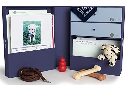 Savor Pet Loss Gift - Pet Memorial Keepsake Box for Dog Cat and Other Pets - Handmade Linen Pet Memory Box for Ashes urn and Other pet Memories. A Beautiful Box to Celebrate Your pet -Blue