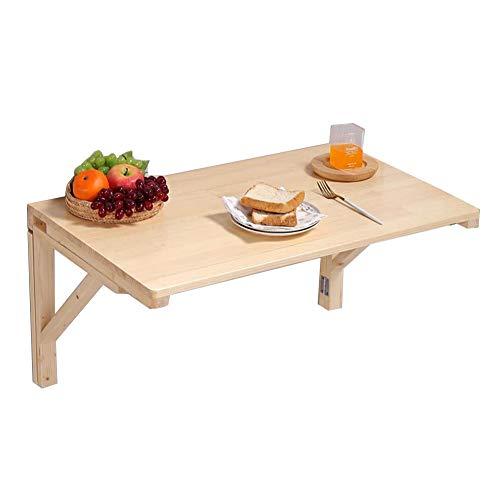 WXQIANG Mesa plegable de pared para dormitorio, escritorio, mesa de comedor multifunción de pino, rodamiento de carga de 40 a 60 kg, duradera y protectora (color: color de madera, tamaño: 120 x 60 cm)