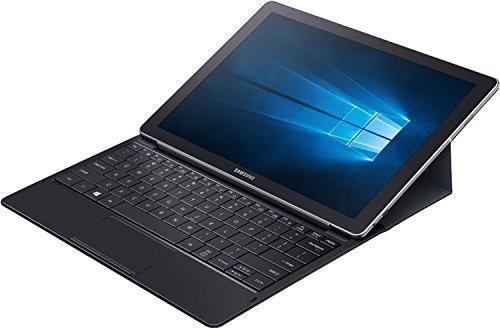 Samsung Galaxy TabPro S SM-W703 30,7 cm (12 Zoll) Tablet-PC (Intel Core m3-6Y30, 4GB RAM, 128GB SSD, Wifi, Win 10 Pro) schwarz inkl. Bookcover mit vollwertiger Tastatur sowie Touchpad