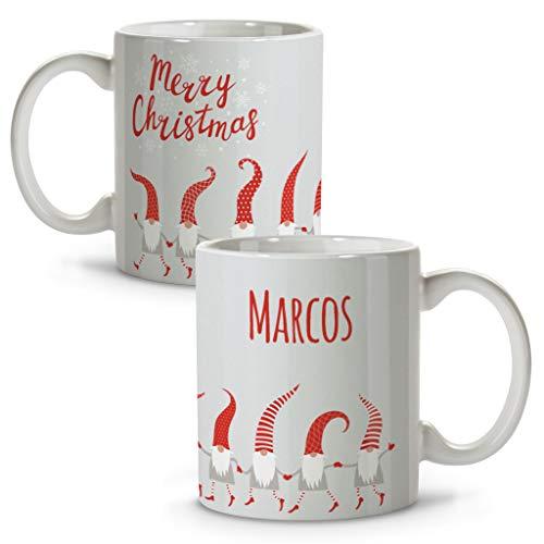 Taza navideña Personalizada con Nombre. Regalos Navidad Personalizados. Tazas Personalizadas de cerámica....