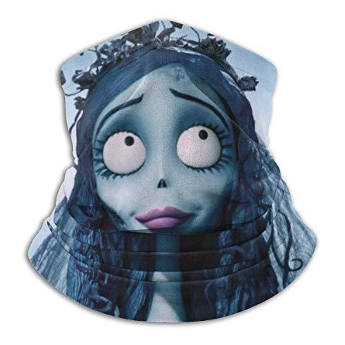ZSMJ Tim Burton's Corpse Braga para el cuello, a prueba de viento, para la boca, cubierta para la cabeza, bufanda, pasamontañas