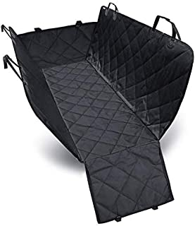 Waterproof Scratch Proof Nonslip Durable Soft Pet Back Seat Covers with Hammock Convertible for Cars Trucks and SUVs