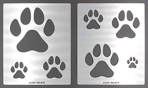 Aleks Melnyk #61 Schablone groß für Boden - Hund, Katze Pfote/Metall Stencil Vorlagen/Wandschablone Kinderzimmer/2 Stück/Kinderzimmer-Dekorarion/Kinderzimmer-Vorlage