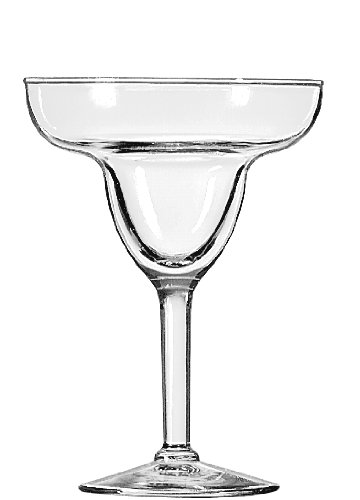 Libbey 9-Ounce Preston Margarita Glass, Clear, 4-Piece