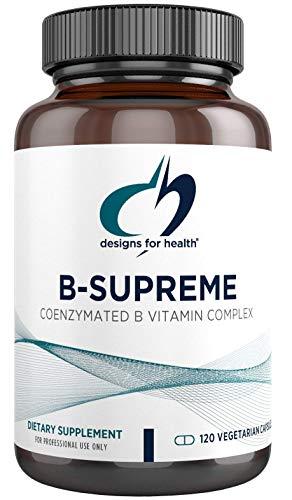 Designs for Health B-Supreme - Powerful B Vitamin Complex with B1, B2, B3, B6 + B12, Includes Active Folate (Methylfolate), TMG + Choline - Non-GMO B Complex Supplement (120 Capsules)