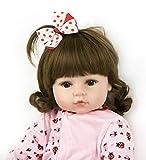 ZIYIUI Reborn Muñecas 60 cm 24 Pulgadas Realista de bebé de Vinilo de Silicona Suave Hecho a Mano Recién Ojos Abiertos Niña Dolls Reborn Muñeca niños Mayores de 3 años Regalo de Cumpleaños Juguete