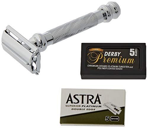 Parker-Astra-Derby - Maquinilla de afeitar y cuchillas de afeitar 99R – 1 paquete de 3 unidades