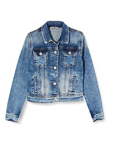 LTB Jeans Mädchen Dean X G Jacke, Blau (Akis Wash 52213), 116 (Herstellergröße: 6)