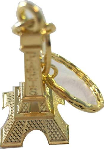 Lote de 50 llaveros de metal con diseño de la Torre Eiffel...