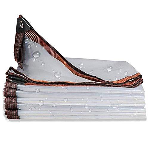 LSXIAO Transparente Lona Impermeable, Cubierta De Polvo De PVC, Esquina Reforzada con Ojal De Metal Y Cuerda Apto para Tejados, Carpa para Camping, Puede Ser Personalizado