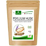 MoriVeda® Psyllium Husk Capsules I Suministro mensual I Digestión, desintoxicación, salud intestinal I 120 cápsulas