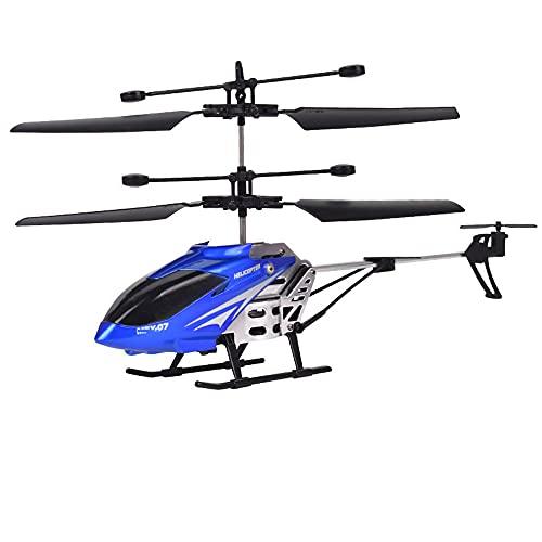 Elicottero telecomandato, radiocomando a 3,5 canali, elicottero gigante, grande all'aperto, elicottero RC con luce a LED giroscopica, drone giocattolo per ragazzi, principiante, facile da usare