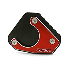 Material of Kickstand Pad: 100% Brand new. High Quality CNC Aluminum, Laser Alloying Surface Finish makes it hard to be faded. Anti-rust and anti-corrosion for long lasting durability to provide a good product experience for you. Effects of Motorcycl...