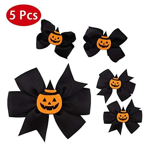 fervory 5 PCS Halloween Hairpin Halloween-Baby-Handcrafted Haar-Klipps Für Geburtstag Geschenke Halloween-Kostüme Für Kinder