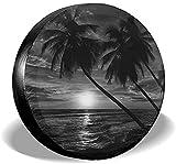 MODORSAN Sunset Over The Sea Cubierta para llanta de Repuesto,poliéster,Universal,de 15 Pulgadas,para llanta de Repuesto,para Remolque,RV,SUV,camión,camión,camioneta,Viaje,Remolque,Accesorios