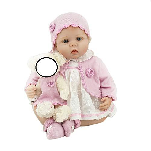 Pinky Reborn Bambole 22 Pollici 55 cm Reborn Baby Doll Sembra Reallife Bebe Reborn Dolls con Fibra d'oro Capelli Bambino Giocattoli di Simulazione Regali Brithday Regalo di Natale