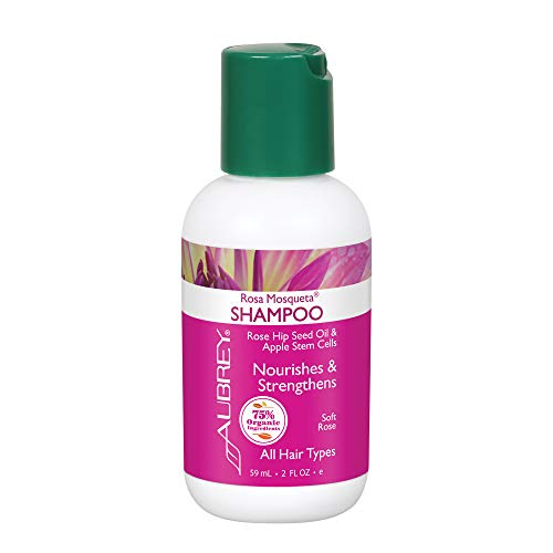 Aubrey Rosa Mosqueta Shampoo | Nourishes & Strengthens | Rose Hip Seed Oil & Apple Stem Cells | 75% Organic Ingredients | All Hair Types | 2oz