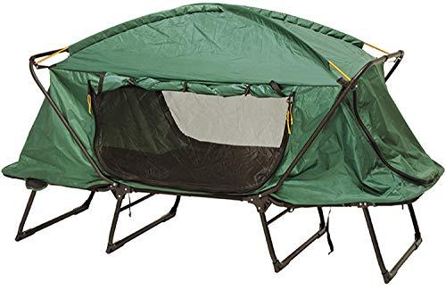 キャンピングベッド ベッドテント アウトドアベッド 折りたたみ 収納袋付き コンパクト 一人用 キャンプ 高床式テントベッド 窓付き メッシュ おしゃれ (シングル)