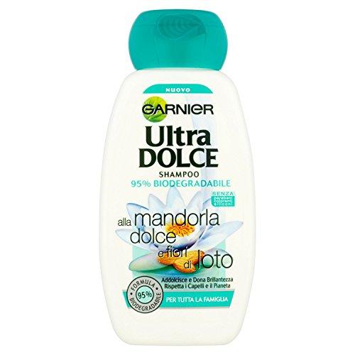 Garnier Ultra Dolce alla Mandorla Dolce e Fiori di Loto Shampoo per Tutta la Famiglia, 250 ml
