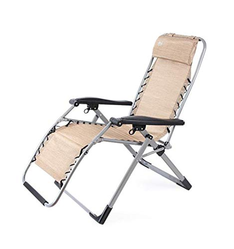 AYHa Heavy Duty Zero Gravity Chair Lounge Lehnstuhl mit Platz für Beine & Amp; Kopfstütze Unterstützung 200Kg Folding Adjustable Portable Office Patio Strand Pool Side Sports Camping, A,B