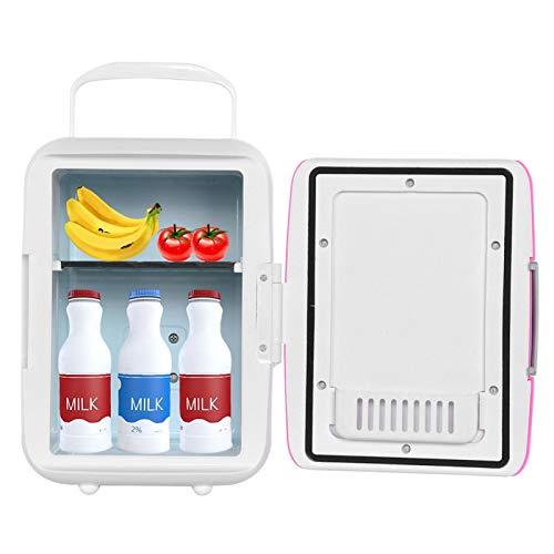 Refrigerador compacto portátil Mini refrigerador portátil Mini coche para oficina en casa(Pink)