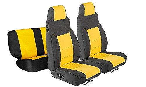 GEARFLAG Neoprene Seat Cover Custom fits Wrangler 2003 - 2006 TJ LJ Full Set (Front + Rear Seats) (Yellow /Black)