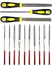YANSHON Mimi nålfiler och rasps-set, 10 olika storlekar härdade nålfiler set för metall, diamant, smycken och hög hård föremål etc., rakfiler set för träplast
