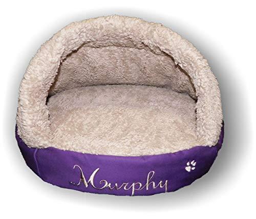 LunaChild Hunde Kuschelhöhle Lounge creme weiß, pink, dunkelblau, hellblau, schwarz, Tiger braun, Schlangen Jeans Hundebett mit Name Snuggle Bag Größe S M L oder XL in 15 Farben erhältlich