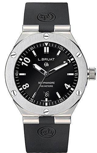 L.Bruat - Reloj suizo para hombre (diámetro: 45 mm)