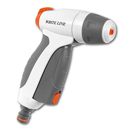 Bradas WL de en51 m White Line 3 Fonctions Douche de Jardin réglable en continu Pistolet, Blanc, 10 x 10 x 2 cm