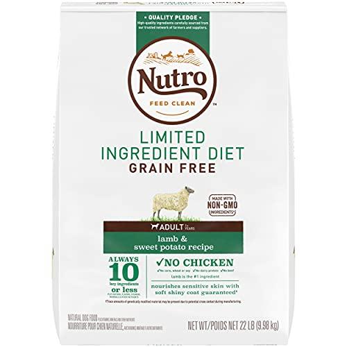 NUTRO Limited Ingredient Diet Adult Dry Dog Food Lamb & Sweet Potato Dog Kibble, 22 lb. Bag