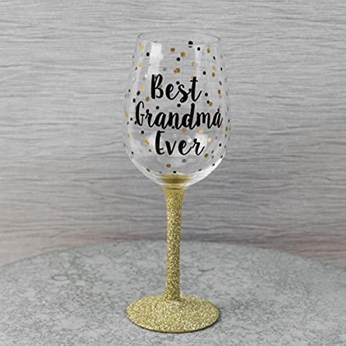 True Face Mad Dots - Copa de vino en caja de regalo, diseño de la mejor abuela
