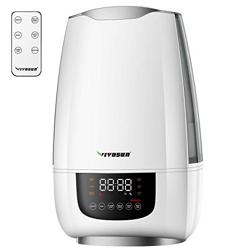 VIVOSUN Cool Mist Humidifier, 6L Quiet Ultrasonic Humidifier for Bedroom (Customized Humidity, Remote Control, Sleep Mode & Auto Shut Off, 360° Nozzle)
