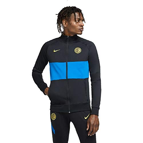 Nike INTER M NK I96 ANTHM TRK JKT, Giacca Sportiva Uomo, black/Blue spark/(tour yellow) (no spon-away), M