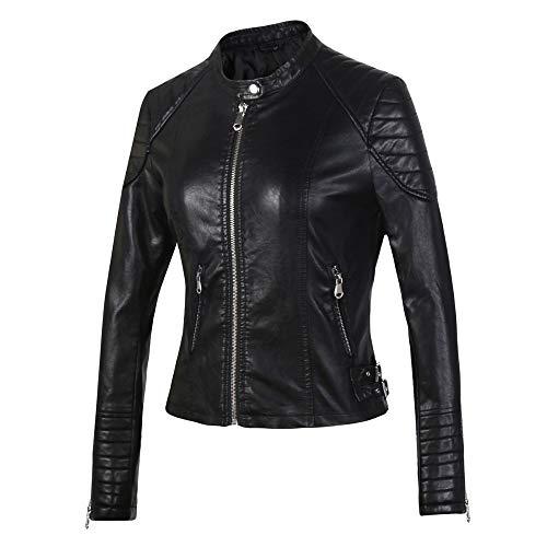 TIKEHAN Femmes Hiver Automne brun bombardier Moto vestes en Cuir Femmes 5 Couleur Veste Femmes Manteau