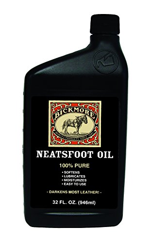 Bickmore 100% Pure Neatsfoot Oil 32 oz - Leather Conditioner and Wood Finish - Works Great on Leather Boots, Shoes, Baseball Gloves, Saddles, Harnesses & Other Horse Tack