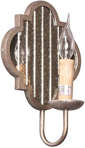 Industrielle Wandleuchte/Jahrgang industrielle Wandleuchte Rustikaler Stil Kerze Wandkerzenhalter mit Spiegel-Design dekorative Innenwandleuchte Grauguss Lampenkörper for Schlafzimmer Wohnzimmer Flu