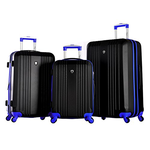 Olympia Apache 3pc Hardcase Spinner Set, Black/Blue, One Size
