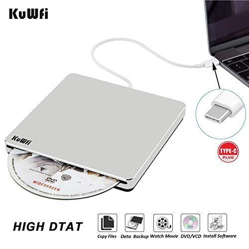 USB C Esterno DVD Unità CD USB Masterizzatore DVD / CD Drive CD-RW DVD +/- RW Rewriter / Writer / Player con dati ad alta velocità per l'ultimo Mac / MacBook Pro / Laptop / Desktop