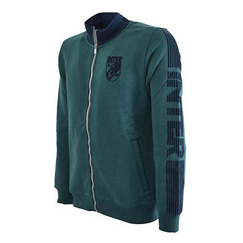 Felpa Uomo Inter Verde FC Ufficiale Trekking Green Full Zip Int20mfe816