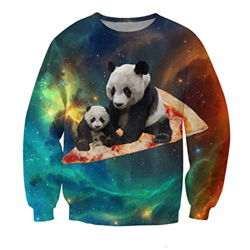 Mode Kreative Wei Kleidung, Panda 3D Kleidung, W-Y, X-Large