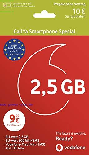 Vodafone Smartphone Special + 10 Startguthaben, Call Ya