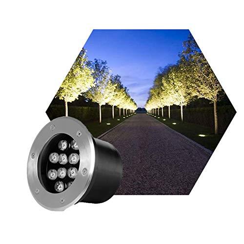 ASPZQ LED Foco Empotrable Al Aire Libre IP67 A Prueba de Agua Lámpara Circular Paisaje Subterráneo Ruta Decoración Césped Jardín AC85-265v Decoración navideña (Color : F, Size : 1W)