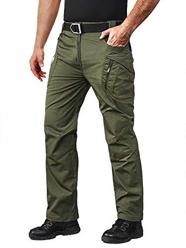 MAGCOMSEN Cargo Pants Men Tactical Pants for Men Work Pants Men Fishing Pants Rain Pants Lightweight Hiking Pants Mens Waterproof Pants Hunting Pants Camping Pants Army Green