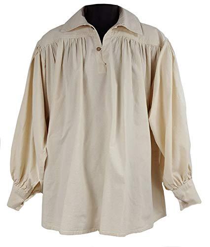 The Celtic Croft Rustic Highland Kilt Shirt (Medium) Cream