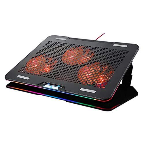 Fransande Radiador, lámpara RGB, radiador, fuerte disipación de calor, adecuado para portátil de 14 a 17,3 pulgadas
