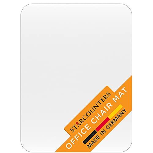 Bodenschutzmatte Bürostuhl Unterlage Schreibtischstuhl Unterlage - Bodenschutzmatte Transparent Schutzmatte Bürostuhl Matte - Stuhl Unterlegmatte Bürostuhlunterlage in Transparent   Made in Germany