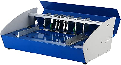 VEVOR Plegadora Papel Eléctrico 460 mm 3 en 1, Máquina Plegadora Eléctrica 220 V 60 Hz, Anchura de Perforación 1 mm, Perforadora de Papel de Alta Precisión Multifuncional para Tarjetas Fotos L